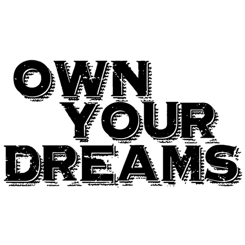 Tim Holtz Rubber Stamp OWN YOUR DREAMS Stampers Anonymous J2-2612 Preview Image