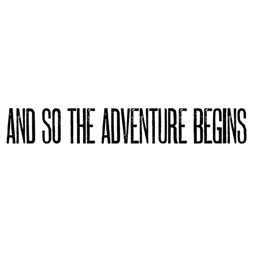 Tim Holtz Rubber Stamp ADVENTURE BEGINS Stampers Anonymous E4-2609 Preview Image