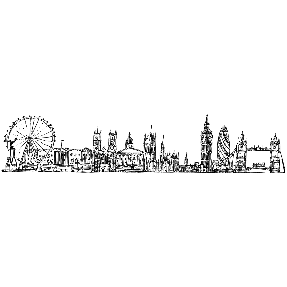 Tim Holtz Rubber Stamp LONDON CITYSCAPE Stampers Anonymous U4-2596 zoom image