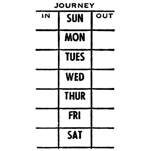 Tim Holtz Rubber Stamp WEEK JOURNEY Stampers Anonymous E1-2600 Preview Image