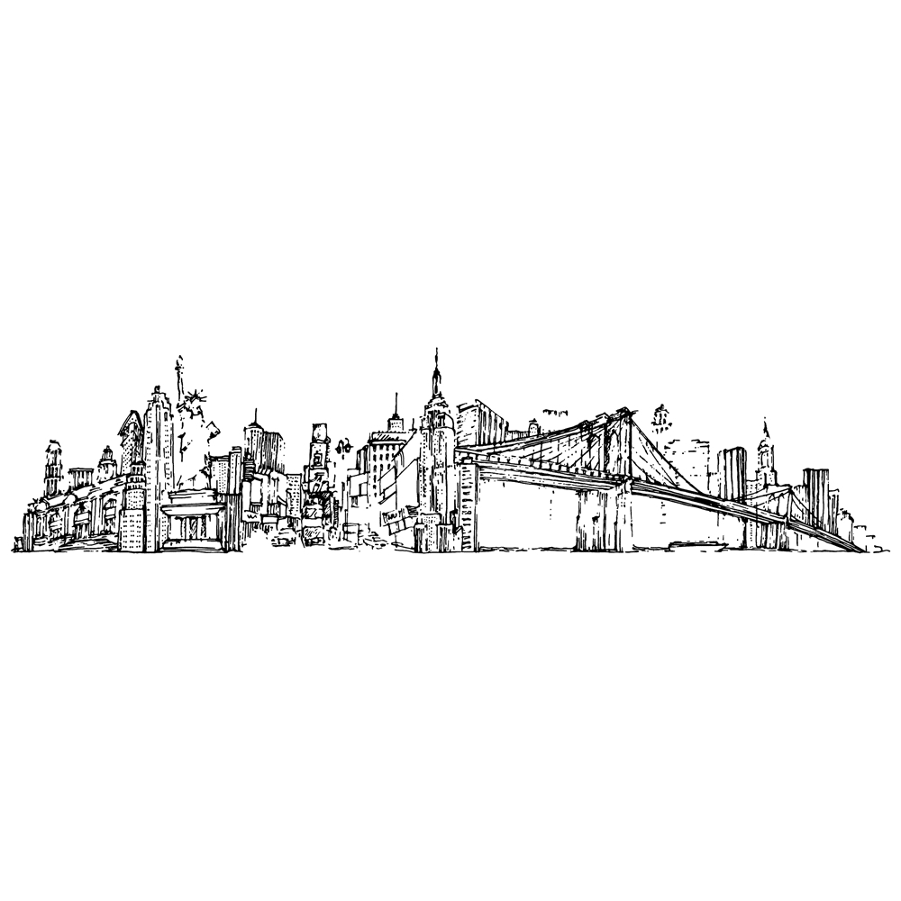 Tim Holtz Rubber Stamp NEW YORK CITYSCAPE Stampers Anonymous U4-2597* zoom image