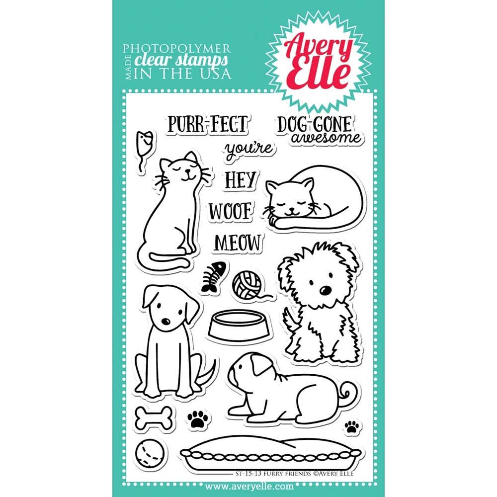 Avery Elle Clear Stamp FURRY FRIENDS Set ST-15-13 zoom image