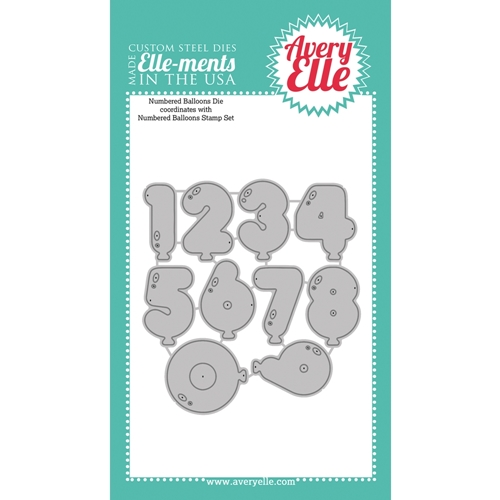 Avery Elle Steel Dies NUMBERED BALLOONS Set D-15-12  Preview Image