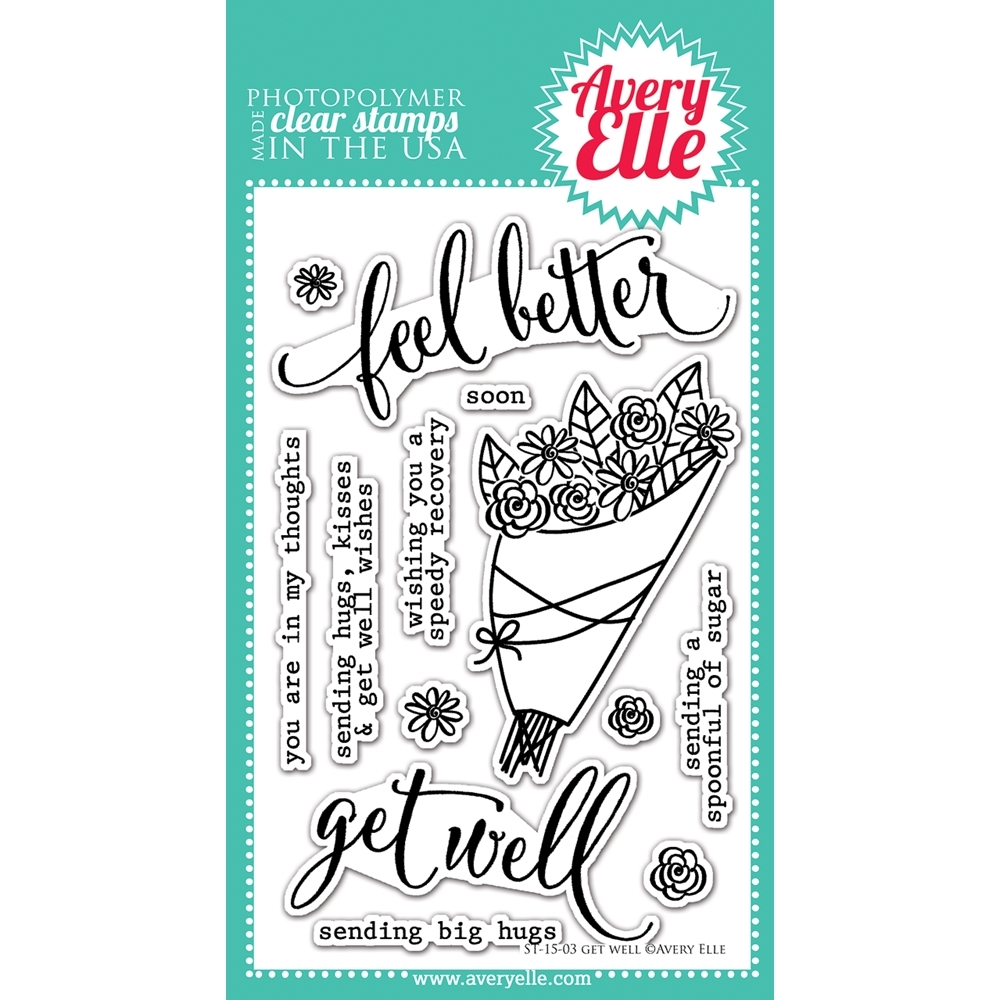 Avery Elle Clear Stamps GET WELL Set ST-15-03* zoom image