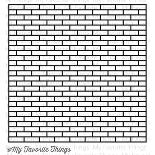 My Favorite Things SMALL BRICK BACKGROUND Cling Stamp MFT BG38 Preview Image