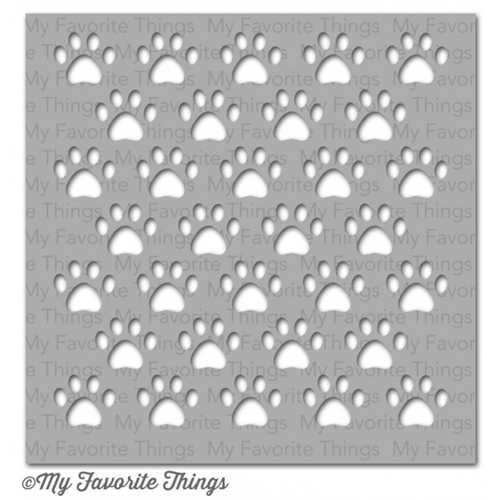 My Favorite Things STAGGERED PAW PRINTS Mixables Stencil MFT ST71 Preview Image