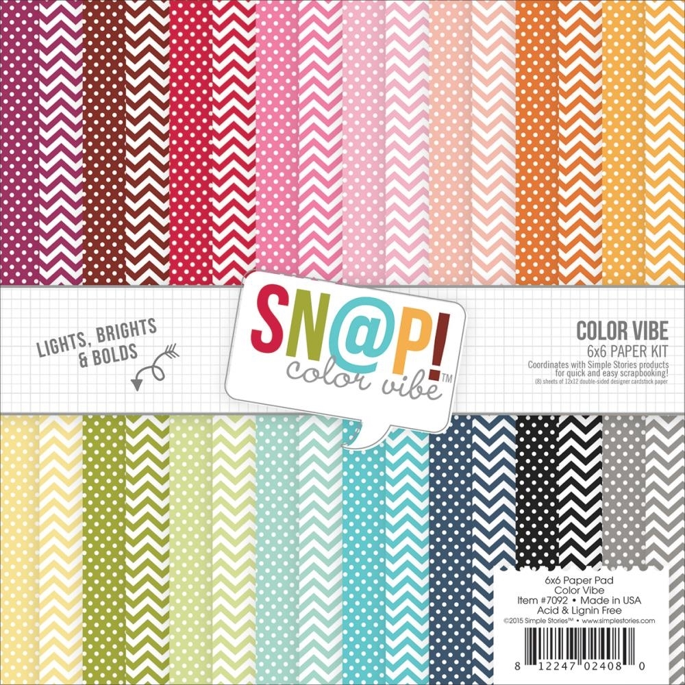 Simple Stories COLOR VIBE II 6 x 6 Snap Paper Pack 7092 zoom image