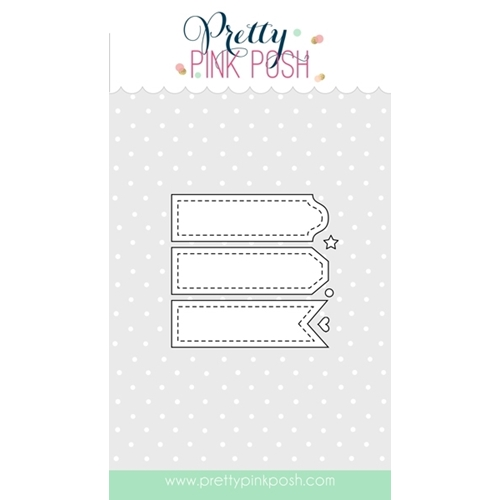Pretty Pink Posh STITCHED LABELS 1 Steel Craft Dies PPPSL1 Preview Image