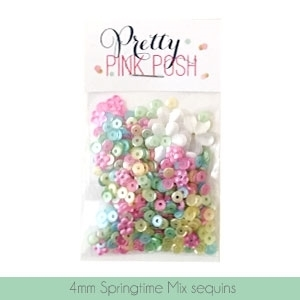 Pretty Pink Posh 4MM SPRINGTIME MIX Sequins PPPSTM4 zoom image