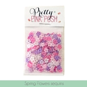 Pretty Pink Posh SPRING FLOWERS MIX Sequins PPPSFM zoom image