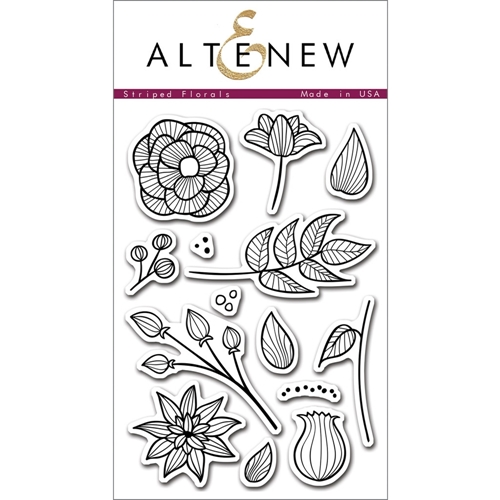 Altenew STRIPED FLORALS Clear Stamp Set ALT1016* Preview Image