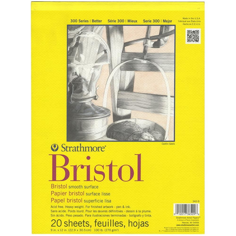 Strathmore BRISTOL SMOOTH 9 x 12 Paper Pad 365096 zoom image