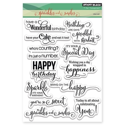 Penny Black Clear Stamps SPRINKLES AND SMILES 30-297 Preview Image