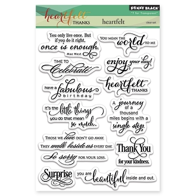 Penny Black Clear Stamps HEARTFELT 30-286* Preview Image