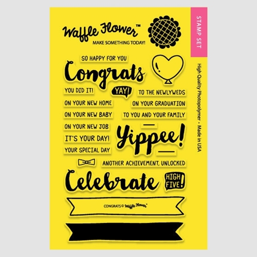 Waffle Flower CONGRATS Clear Stamp Set 271035* Preview Image