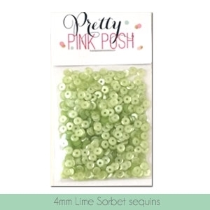 Pretty Pink Posh 4MM LIME SORBET Cupped Sequins zoom image