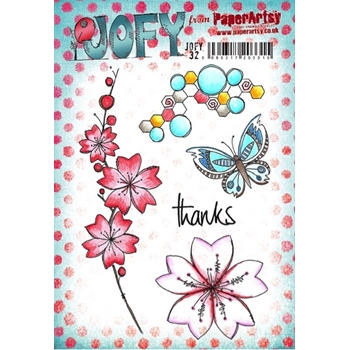 Paper Artsy JOFY 32 Thanks Rubber Cling Stamp JOFY32