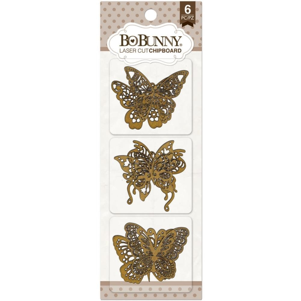 BoBunny BUTTERFLY Laser Cut Chipboard 12815839 zoom image