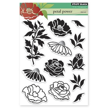 Penny Black Clear Stamps PETAL POWER 30-225* zoom image