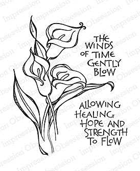 Impression Obsession Cling Stamp CALLA LILY Set G15078 Preview Image