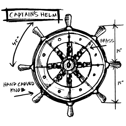 Tim Holtz Rubber Stamp CAPTAIN'S SKETCH Stampers Anonymous P1-2636 Preview Image