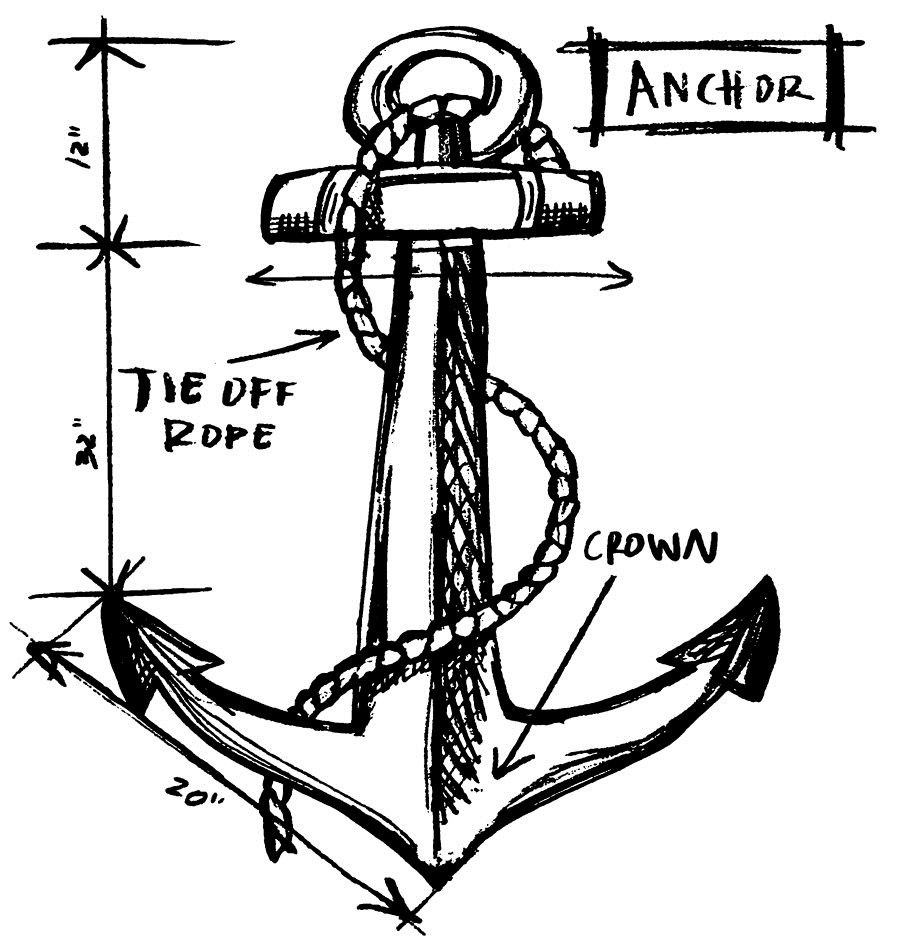 Tim Holtz Rubber Stamp ANCHOR SKETCH Stampers Anonymous P1-2635* zoom image