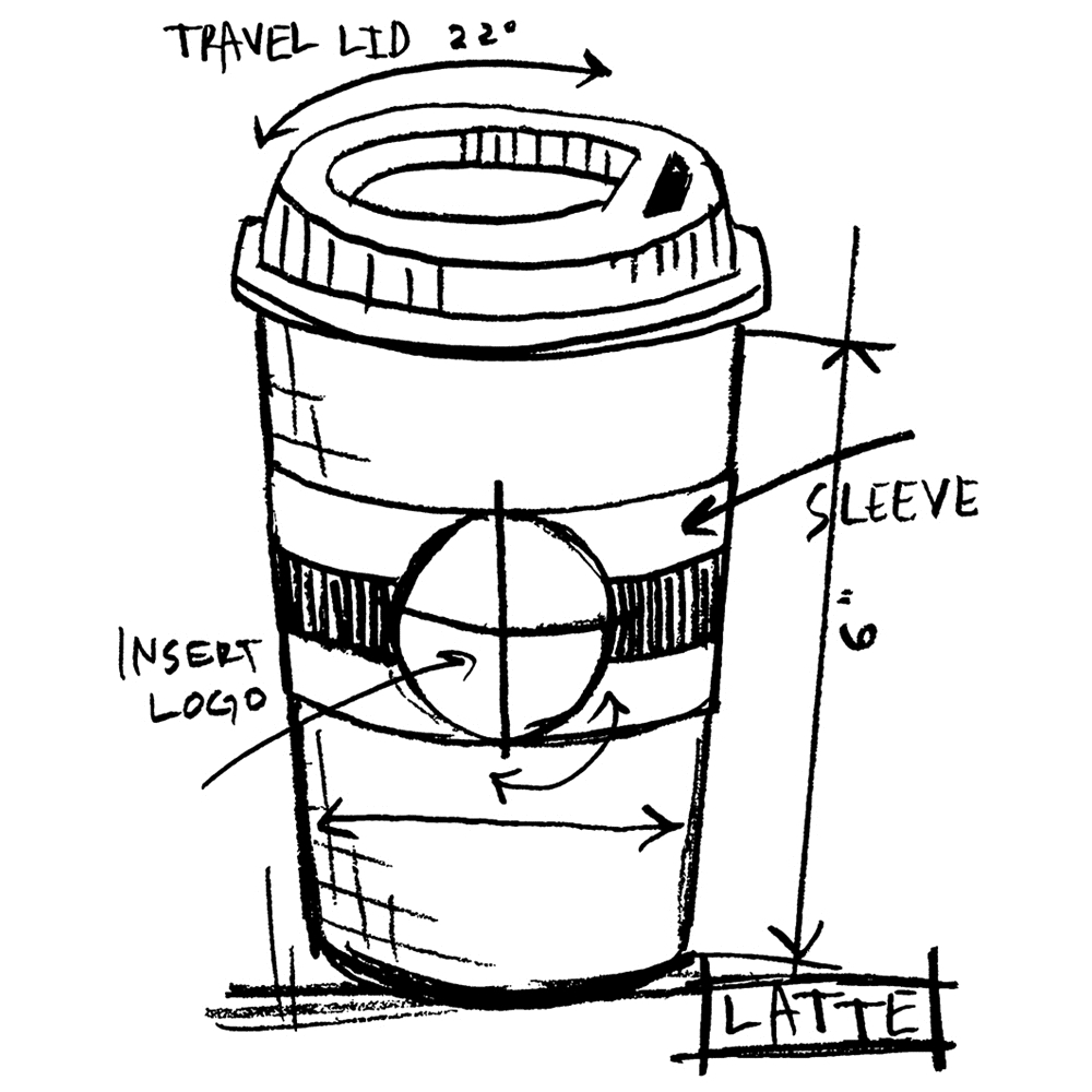Tim Holtz Rubber Stamp  LATTE SKETCH Stampers Anonymous P1-2629* zoom image
