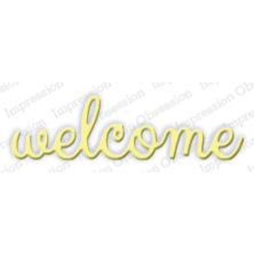 Impression Obsession Steel Die WELCOME Set DIE266 A Preview Image