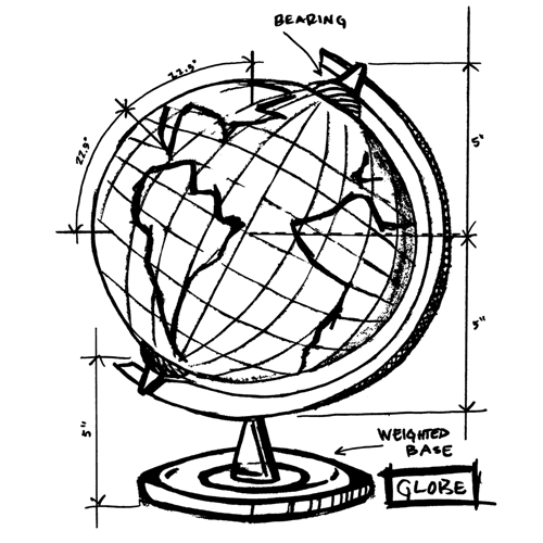 Tim Holtz Rubber Stamp  WORLD SKETCH Stampers Anonymous V1-2626* Preview Image