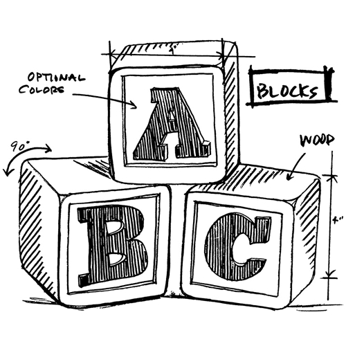 Tim Holtz Rubber Stamp  BLOCKS SKETCH Stampers Anonymous M4-2619 Preview Image