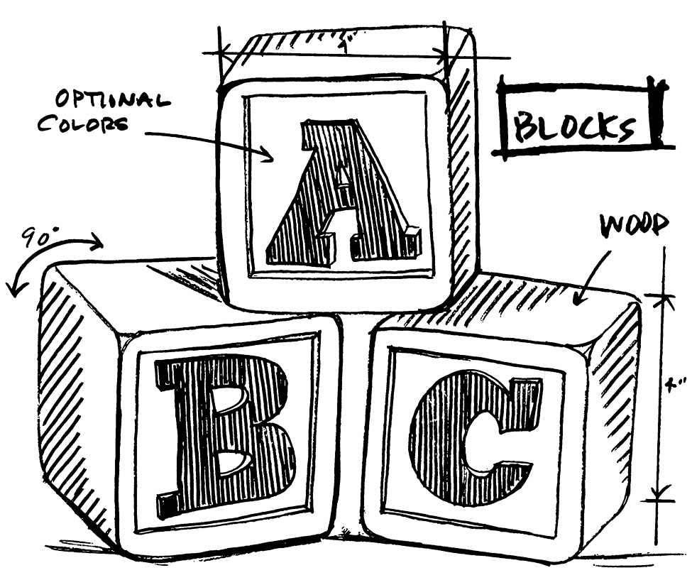 Tim Holtz Rubber Stamp  BLOCKS SKETCH Stampers Anonymous M4-2619 zoom image