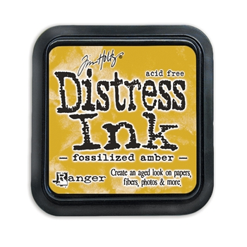 Tim Holtz Distress Ink Pad FOSSILIZED AMBER Ranger TIM43225