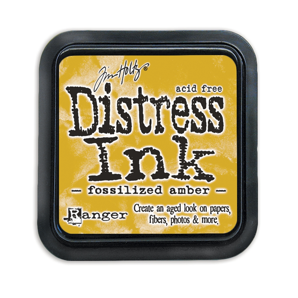 Tim Holtz Distress Ink Pad FOSSILIZED AMBER Ranger TIM43225 zoom image