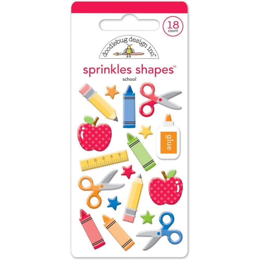 Doodlebug SCHOOL SHAPES Sprinkles Enamel Assortment 4581 zoom image