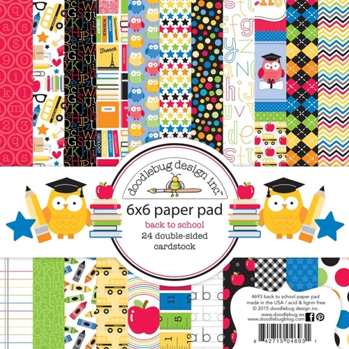 Doodlebug BACK TO SCHOOL 6 x 6 Paper Pad 4698 Preview Image