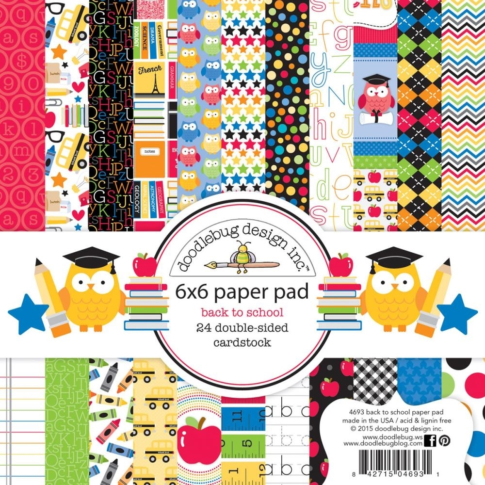 Doodlebug BACK TO SCHOOL 6 x 6 Paper Pad 4698 zoom image