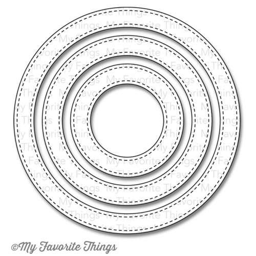 My Favorite Things STITCHED CIRCLE FRAMES Die-Namics MFT621 Preview Image