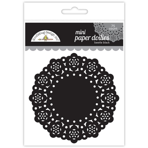 Doodlebug BEETLE BLACK MINI DOILIES 75 Count 4607 Preview Image