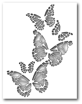 Memory Box REVERSE BUTTERFLY COLLAGE Craft Die 99145 Preview Image