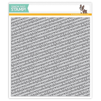 Simon Says Cling Rubber Stamp TINY ALPHABET BACKGROUNDS sss101516 *