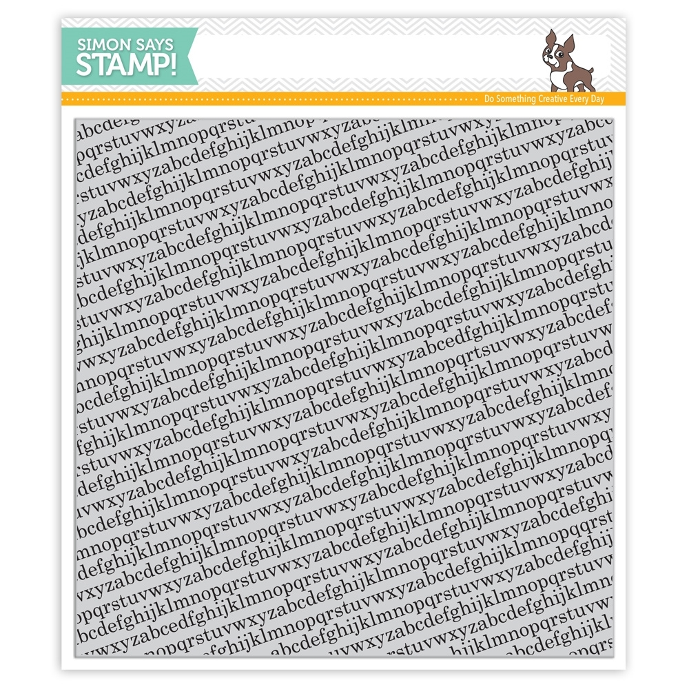 Simon Says Cling Rubber Stamp TINY ALPHABET BACKGROUNDS sss101516 * zoom image
