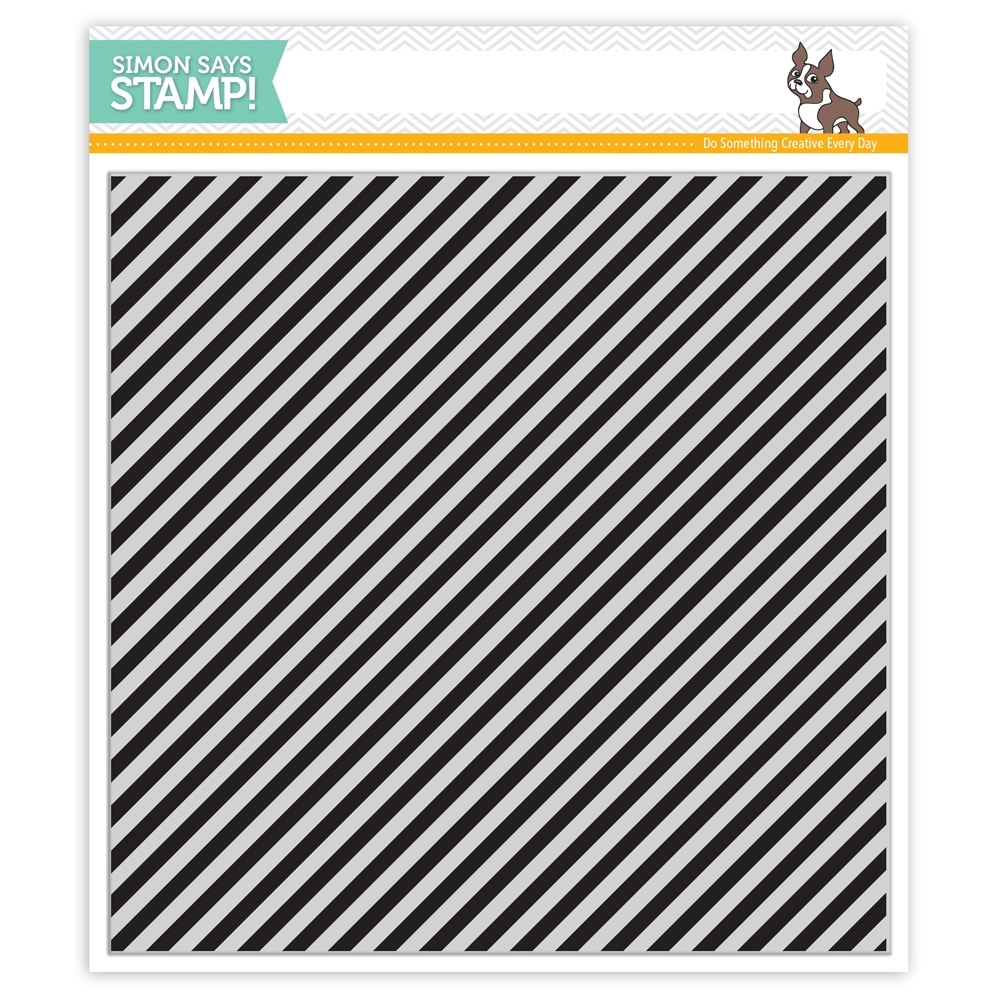 Simon Says Cling Rubber Stamp DIAGONAL STRIPES sss101532 Falling For You zoom image