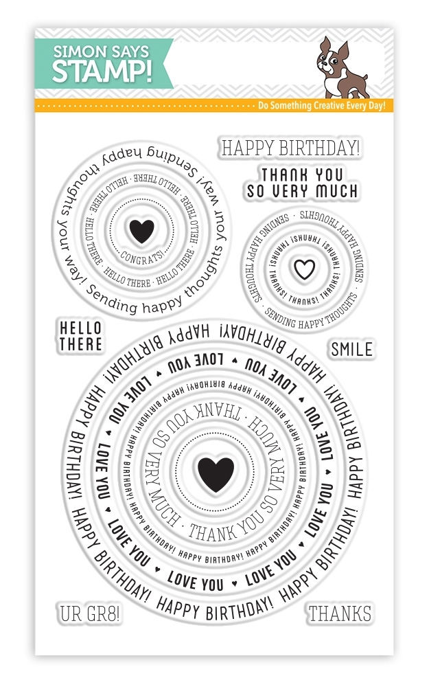 Simon Says Clear Stamps CIRCLE SAYINGS sss101512 zoom image