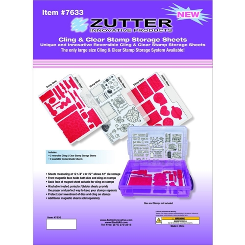 Zutter CLING AND CLEAR STAMP STORAGE SHEETS 7633 Preview Image