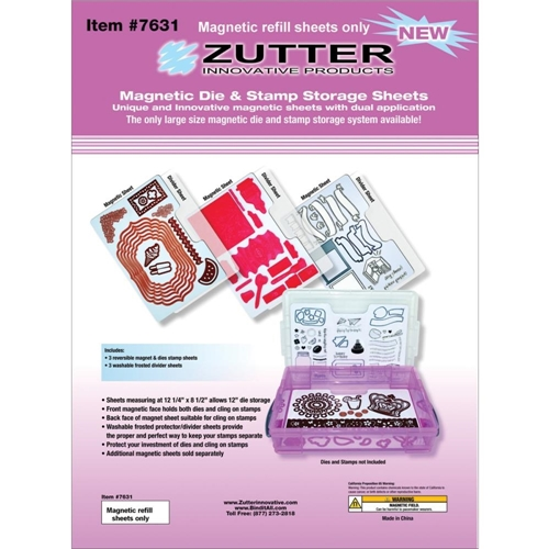 Zutter MAGNETIC DIE AND STAMP STORAGE SHEETS 7631 Preview Image