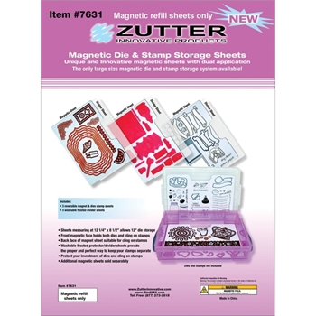 Zutter MAGNETIC DIE AND STAMP STORAGE SHEETS 7631