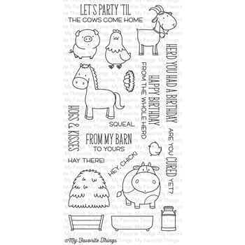 My Favorite Things THE WHOLE HERD Clear Stamps BB18