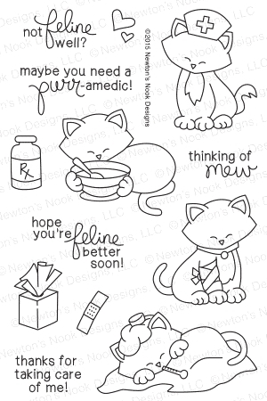 Newton's Nook Designs NEWTONS SICK DAY Clear Stamp Set 20150501 zoom image