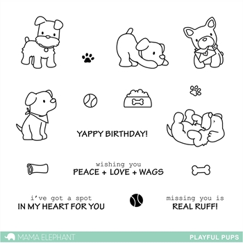 Mama Elephant Clear Stamps PLAYFUL PUPS*