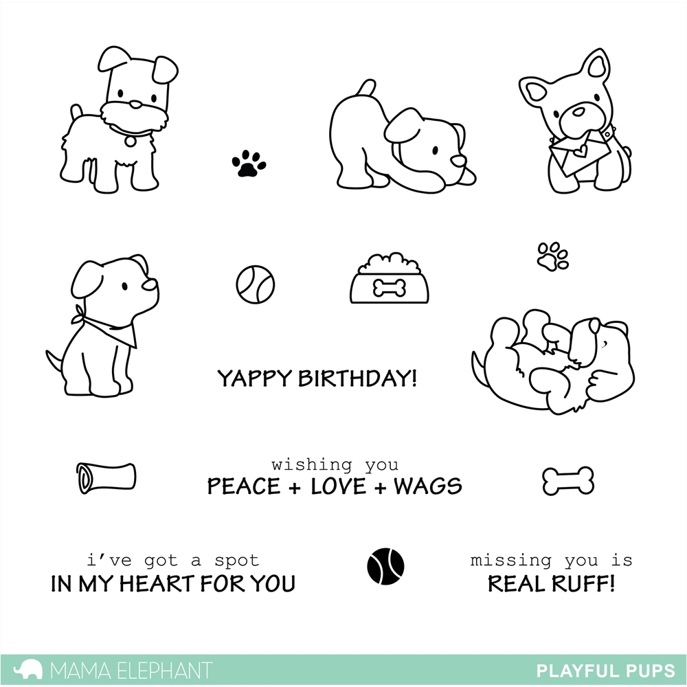Mama Elephant Clear Stamps PLAYFUL PUPS zoom image